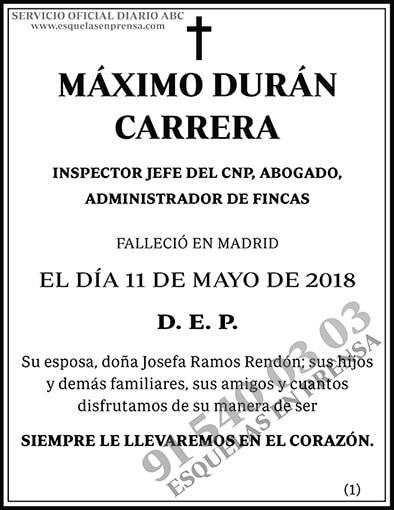 Máximo Durán Carrera